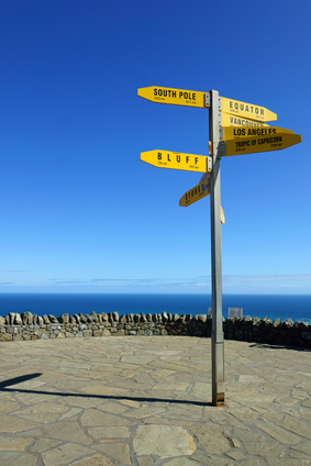 Signpost in Cape Reinga